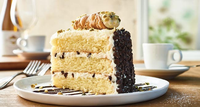 CANNOLI CAKE FOR TWO**