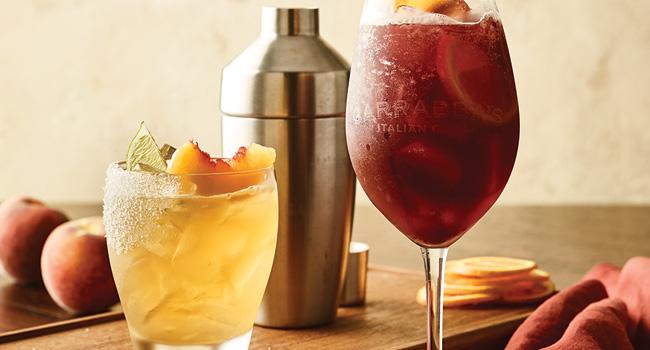 Peach Bellini Margarita and Bourbon Stonefruit Sangria